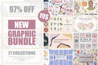 NEW Graphic Bundle - 97% OFF