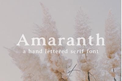 Amaranth | Hand Lettered Serif Font