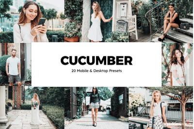 20 Cucumber Lightroom Presets & LUTs