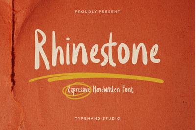Rhinestone - Expressive Handwritten