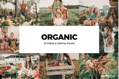 20 Organic Lightroom Presets & LUTs