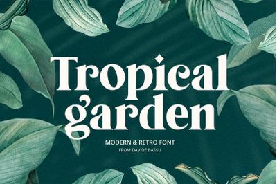 Tropical Garden font