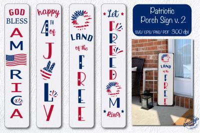 Patriotic porch sign svg, Patriotic svg, 4th of July, American flag sv
