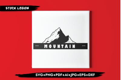 Mountain Black SVG