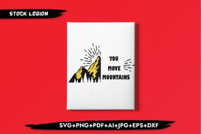 You Move Mountains SVG