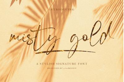 Misty Gold Font