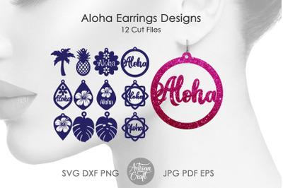 Aloha jewelry, laser earring SVG files