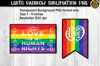LGBTQ Pride Rainbow Flag Sublimation PNG Set 2 Designs
