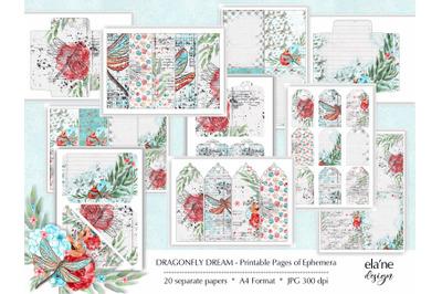 Dragonfly Dream Printable Ephemera
