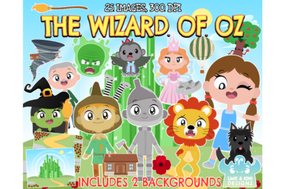 The Wizard of Oz Clipart - Lime and Kiwi Designs