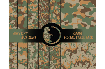 Military digital paper pack, Scrapbook papers, Digital download, JPG
