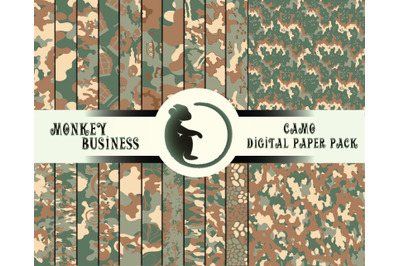 Seamless patterns, Digital paper pack, Scrapbook paper, Printable