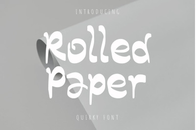 Rolled Paper