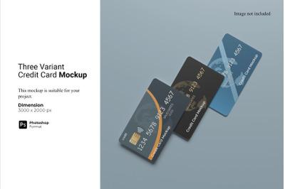 Three Variant Credit Card Mockup