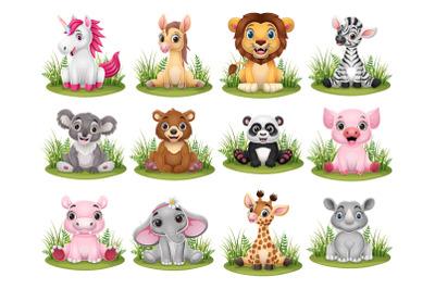 Set of Twelve Little Animal Collection