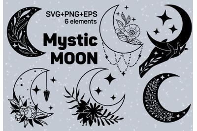 Mystic moon svg set