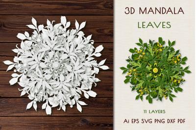 """3D Mandala """"Leaves""""."""