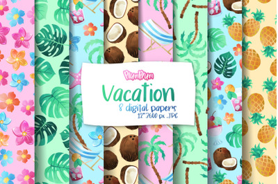 Vacation Digital Papers