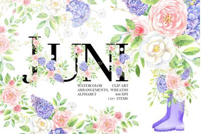 JUNI Watercolor Clipart