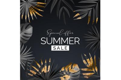 Summer sale poster. Natural Background for Poster