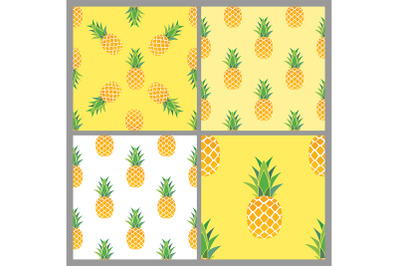 Pineapple Seamless Pattern Background collection set