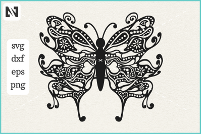 Butterfly Mandala Svg, Butterfly Svg, Butterfly Zentangle