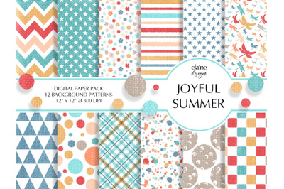 Joyful Summer Digital Paper Pack