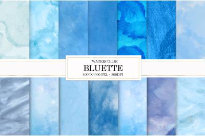 Blue texture, watercolor
