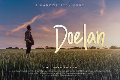 Doelan - A Handwritten Font
