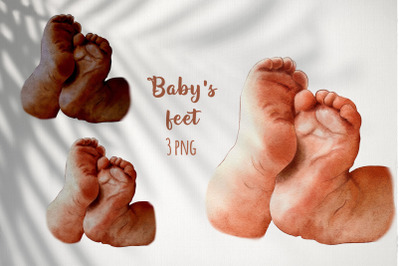 Baby feet sublimation PNG / Family clipart / Baby shower art