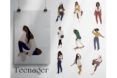 teenager, child in vector, abstract girl, black girls, traveling images, black lady, african american, children svg, different ethnicities, female body, vector portrait, children vector, vector art