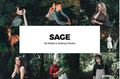 20 Sage Lightroom Presets & LUTs