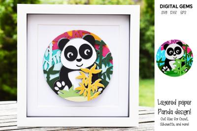 Panda Layered paper design