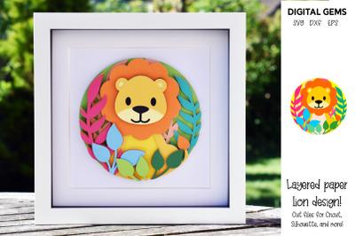 Lion, Layered paper design