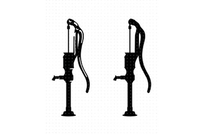 Vintage farm water pump SVG and PNG clipart