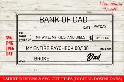 Paycheck & Blank Check T-Shirt Design SVG