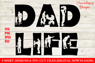 Fathers day SVG, Dad life T-Shirt Design