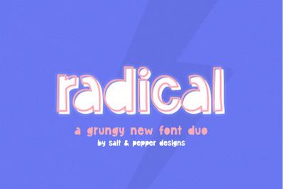 Radical Font Duo (Grunge Fonts, Cool Fonts, Font Duo)
