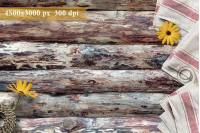 Background Napkins on logs