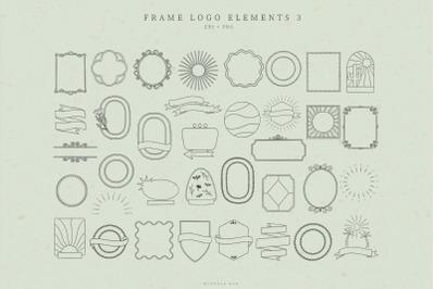 Retro frame logo element illustrations