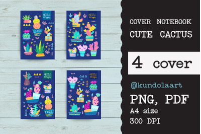Covers for notebooks with Cute cactus
