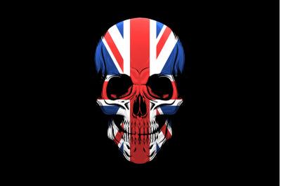 The United Kingdom Flag Skull Illustration