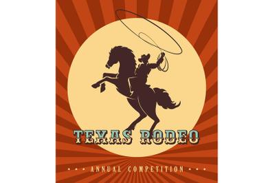 Vintage rodeo poster illustration