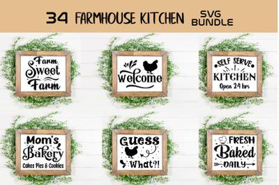 Farmhouse Kitchen Signs SVG Bundle, Home Decor Signs Bundle