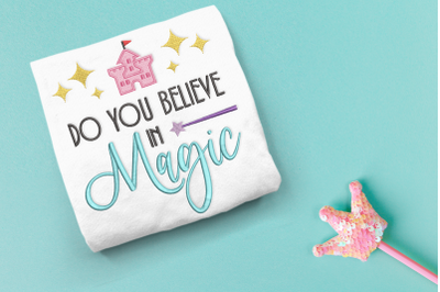 Do You Believe in Magic Castle   Embroidery