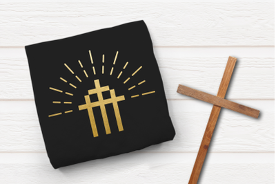 Modern Triple Cross Easter   SVG   PNG   DXF   EPS