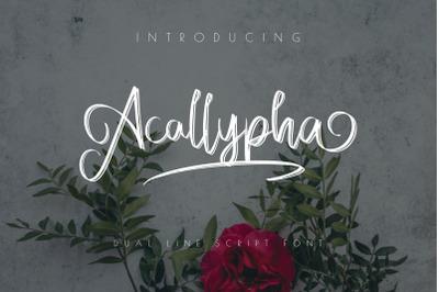 Acallypha - Handwritten Script Font