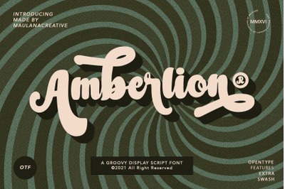 Amberlion Groovy Diplay Script Font