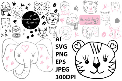 Animals set. SVG.