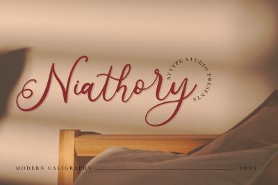 Niathory - Modern Calligraphy Font
